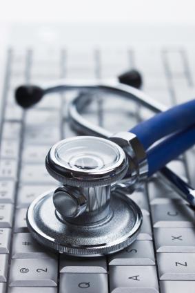 Physicians Stethoscope On Keyboard