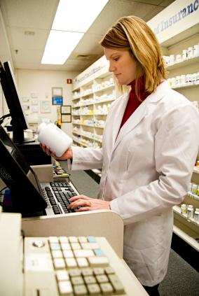 Pharmacist Preparing Medications At Inpatient Pharmacy Fulton County