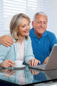Older Couple Researching Behavioral Health Options