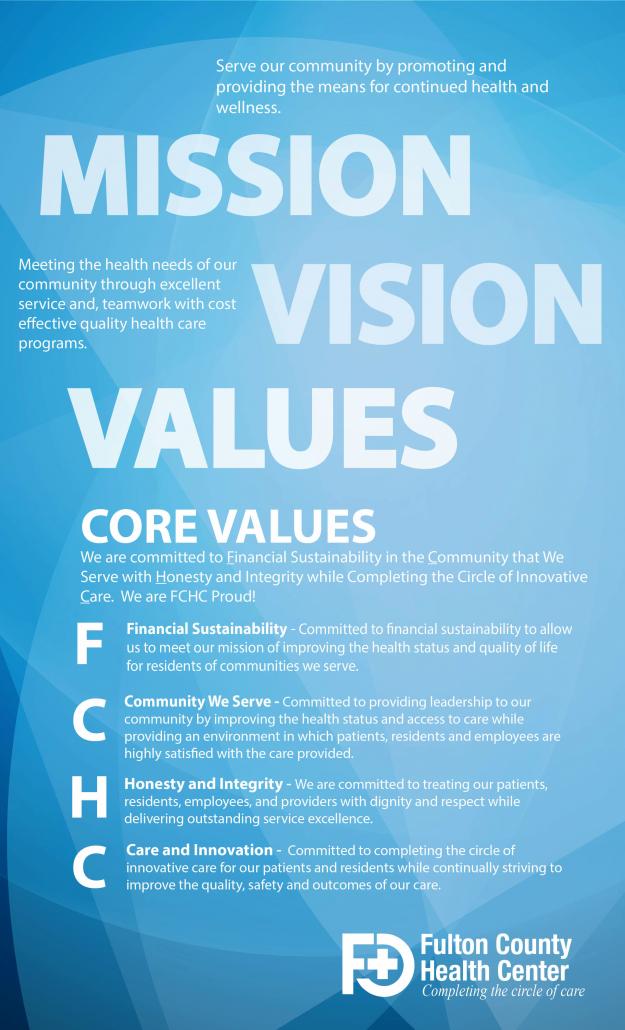 Fulton County Health Center's Core Values