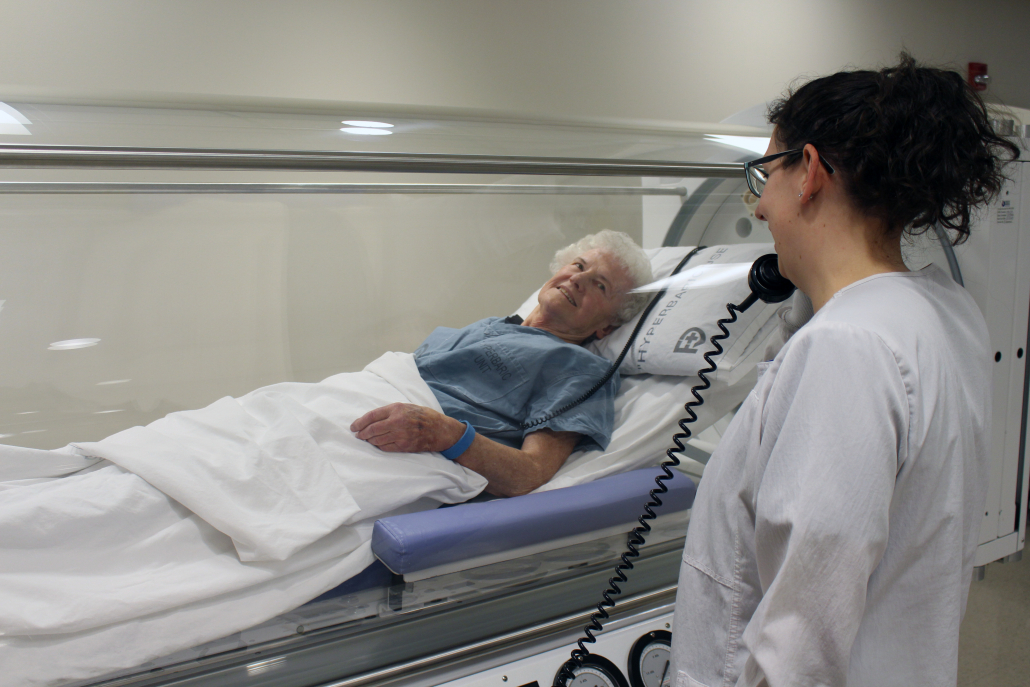 Patient In Hyperbaric Test At Fulton County Health Center